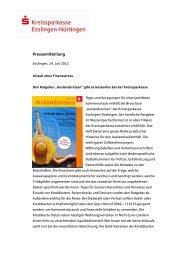 Pressemitteilung - Kreissparkasse Esslingen-Nürtingen