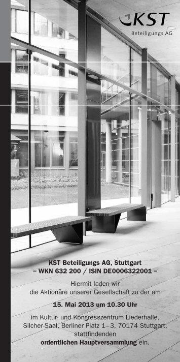 Tagesordnung - KST Beteiligungs AG