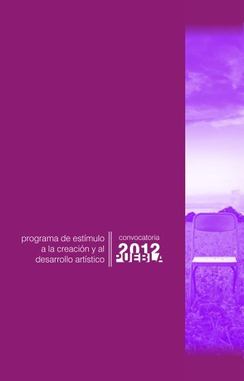 convoc pecdap 2012 p generar pdf - IPRO: Iniciativa para el ...