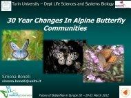 30 year changes in alpine butterfly communities - Vlindernet