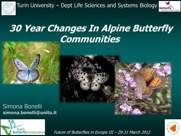 30 year changes in alpine butterfly communities - Vlindernet