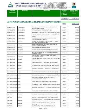 Listado de Beneficiarios 3ER TRIMESTRE