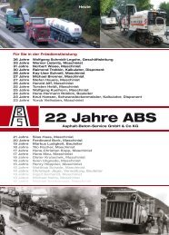 22 Jahre ABS - ABS Asphalt-Beton-Service Gmbh & Co. KG