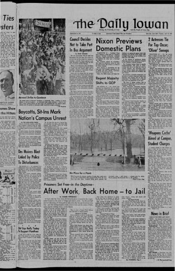 April 15 - The Daily Iowan Historic Newspapers - University of Iowa