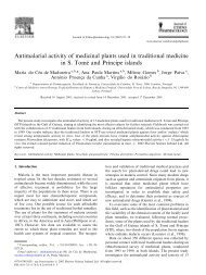 Antimalarial activity of medicinal plants used in traditional medicine ...