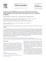 Congruence and indifference between two molecular markers for ...
