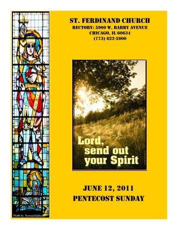 JUNE 12, 2011 PENTECOST SUNDAY - St Ferdinand Church