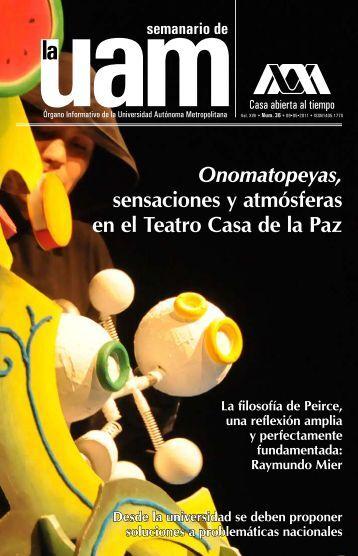 Onomatopeyas, sensaciones y atmósferas en el Teatro Casa - UAM ...