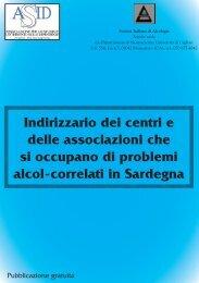 Indirizzario dei centri e delle associazioni che si - Società Italiana di ...