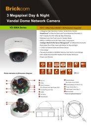 3 Megapixel Day & Night Vandal Dome Network Camera - Kucera