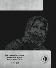 Annual Report 2010 - Palestinian Center for Human Rights
