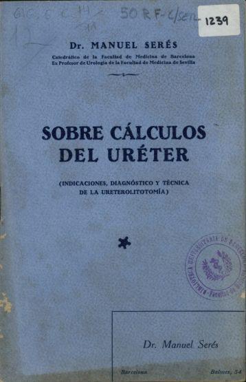 SOBRE CÁLCULOS DEL URÉTER - Universitat de Barcelona