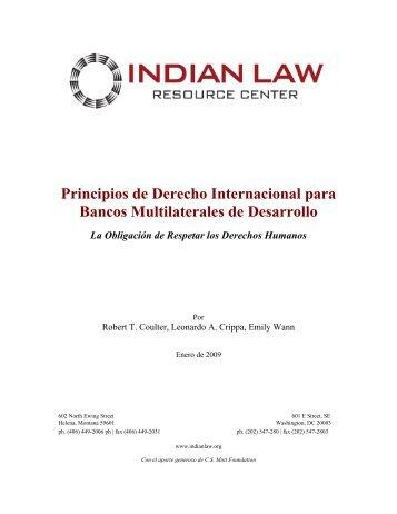 Principios de Derecho Internacional para la Banca Multilateral de ...