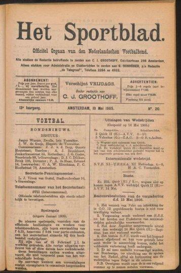 Officieel Orgaan van den Nederlandschen Voetbalbond. VOETBAL