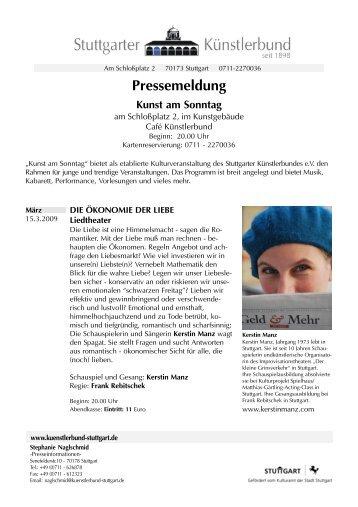 Pressemeldung - Künstlerbund Stuttgart