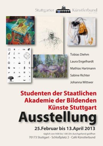 Studenten der Staatlichen Akademie der Bildenden Künste Stuttgart
