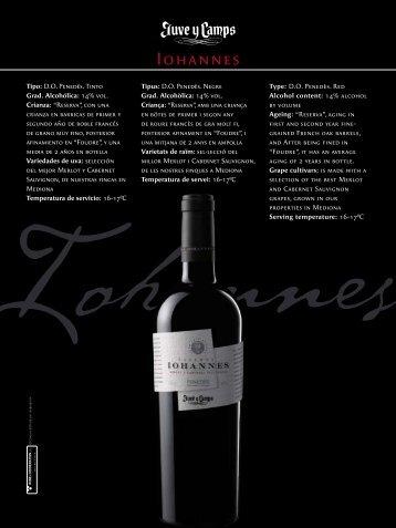 IOHANNES (vino de guarda), vi negre D.O. Penedés - Gastroteca.cat