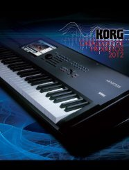 Download do catálogo KORG 2012 (PDF).