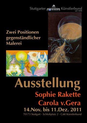 Sophie Rakette Carola v.Gera - Stuttgarter Künstlerbund