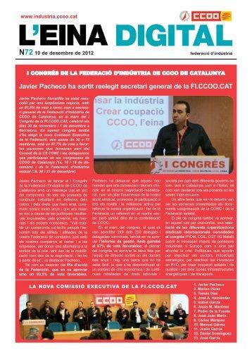 Javier Pacheco ha sortit reelegit secretari general de la FI.CCOO.CAT