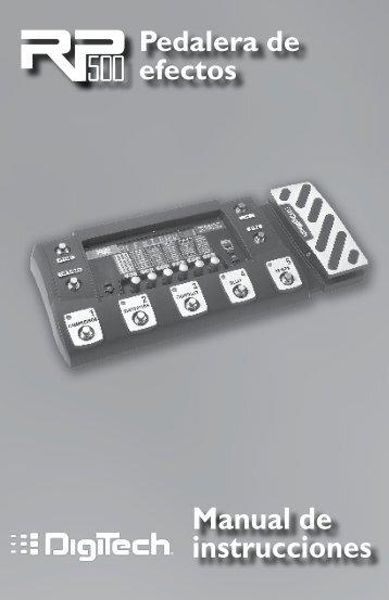 RP500 Manual Spanish - Digitech