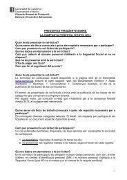 FAQ's - Premsa - Generalitat de Catalunya