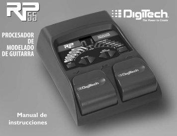 PROCESADOR DE MODELADO DE GUITARRA - Digitech