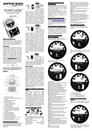Modelo VSS-C Manual del propietario - Peterson Tuners