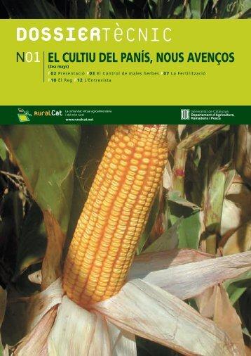 Dossier Tècnic Núm. 1: El cultiu del panís - RuralCat