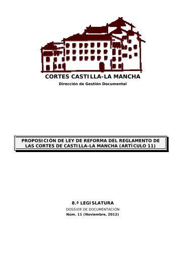 Dossier núm. 11. Proposición de Ley de reforma del Reglamento de ...