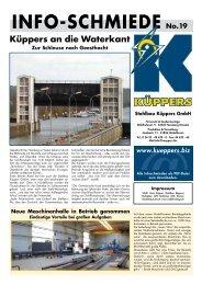Info-SchmIede no.19 - Stahlbau Küppers GmbH