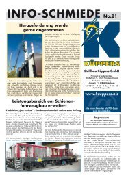 Info-SchmIede no.21 - Stahlbau Küppers GmbH