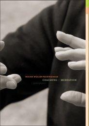 Broschüre COACHING · MEDIATION von Regine Müller-Peddinghaus