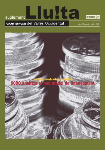 196. Comarca   setembre - octubre 2009 - CCOO de Catalunya