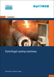 Centrifugal casting machines - Küttner - Engineering and Contracting