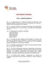 Reglament general.pdf - Federació Catalana de Bàdminton