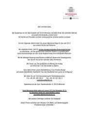 Menüvorschläge 2013 - Kuffler Gastronomie München.