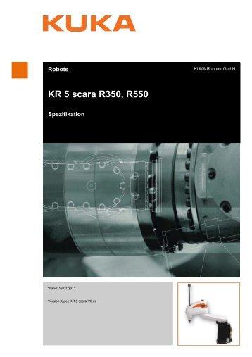 KR 5 scara R350, R550 - KUKA Robotics