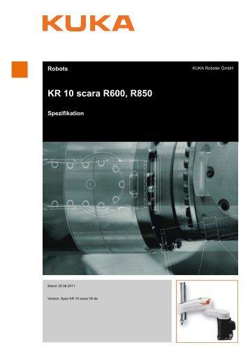 KR 10 scara R600, R850 - KUKA Roboter