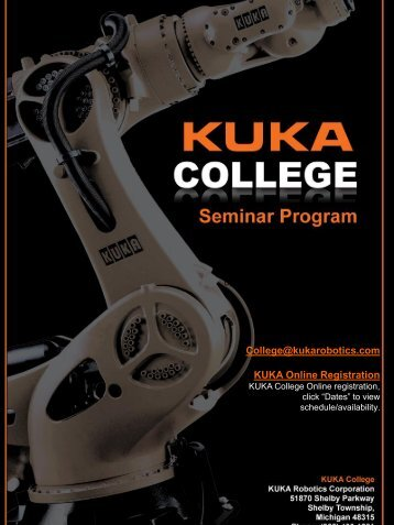 Seminar Program (PDF) - KUKA Robotics
