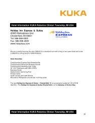 Hotel list Clinton Township (PDF) - KUKA Roboter