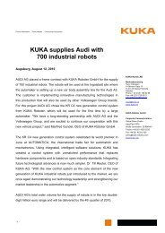 Press release for download (PDF-format) - KUKA Roboter