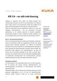 KR C4 – en allt-i-ett-lösning - KUKA Roboter