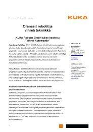 Press release to download (PDF format) - KUKA Roboter