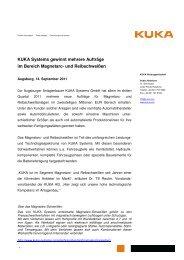 KUKA Systems gewinnt mehrere Aufträge im ... - KUKA Robotics
