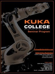 Seminar Program Clinton Township (PDF) - KUKA Robotics