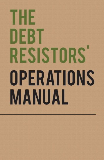 THE DEBT RESISTORS' OPERATIONS MANUAL