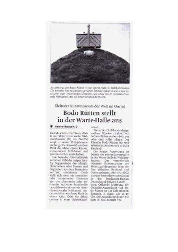 Kleinstes Kunstmuseum der Welt im Ourral - Kult-OUR-Tal-Museum
