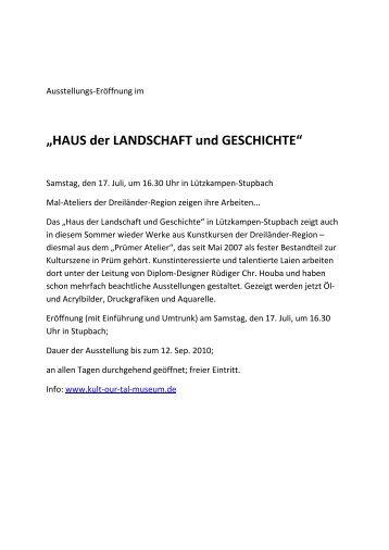 HAUS der LANDSCHAFT und GESCHICHTE - Kult-OUR-Tal-Museum