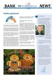 BankNews Dezember 2012 - Kulmbacher Bank eG
